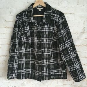 CJ Bank Button Front Tweed Jacket